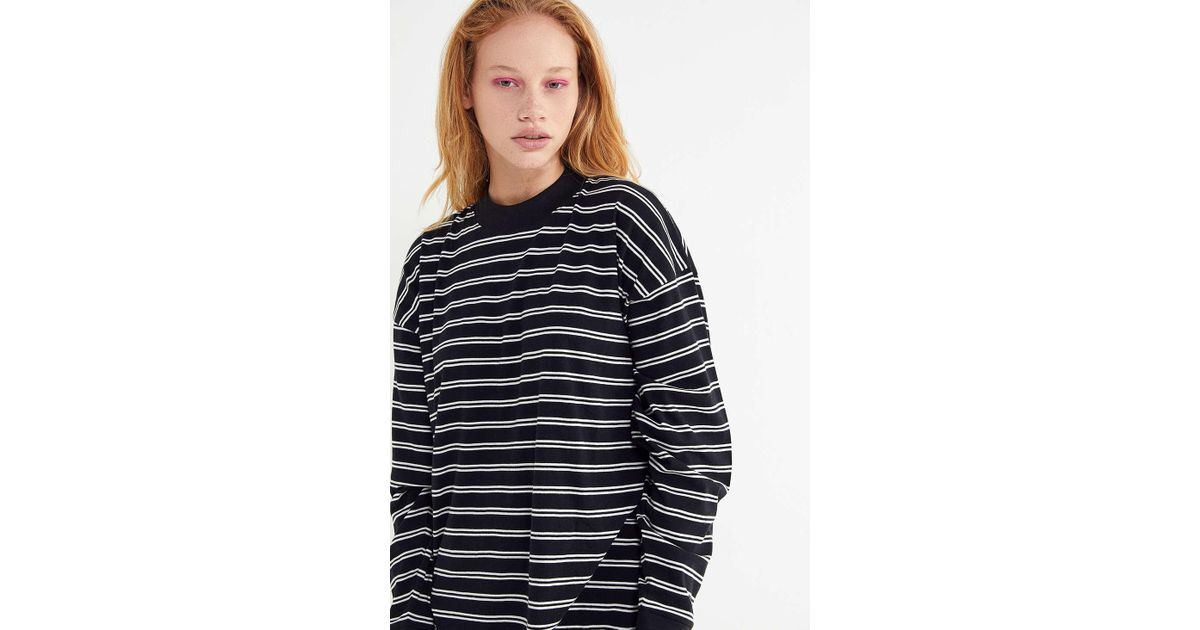 edd930ac8e Lyst - Urban Outfitters Uo Carnaby Striped Crew-neck Top