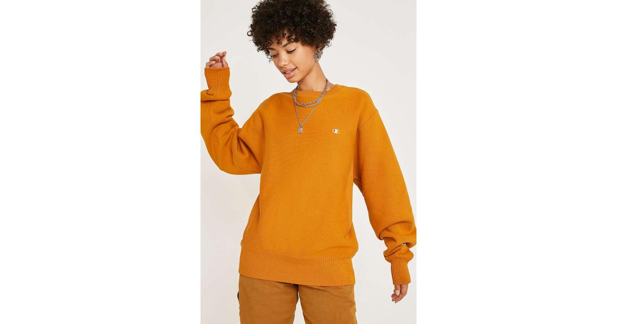 Champion X Uo Ginger Crew Neck Sweatshirt - Womens Xs in Orange - Lyst d8427a99a6b5