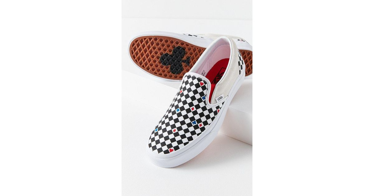e455665673f Lyst - Vans Vans X Uo Playing Card Classic Slip-on Sneaker in White