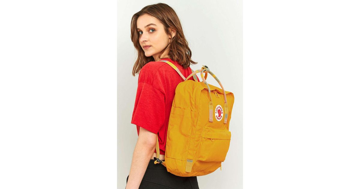 16c44a2b Fjallraven Kanken Warm Yellow Stripe Handle Backpack - Womens All in Yellow  - Lyst