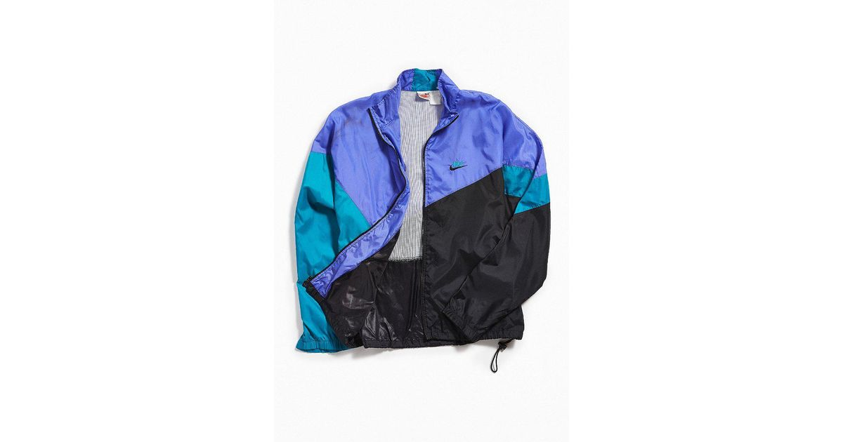 Lyst - Urban Outfitters Vintage Nike Purple + Teal Windbreaker Jacket in  Black for Men 8f99ffa85
