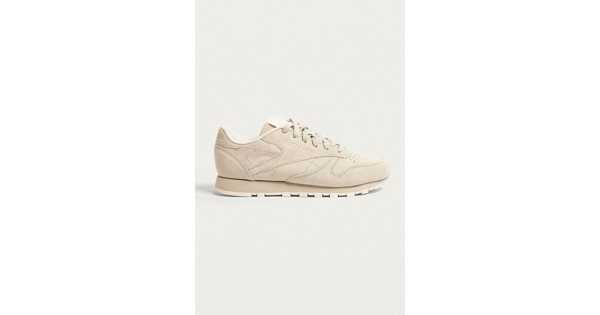 Reebok - Natural Classic Suede Tonal Trainers - Lyst 959f255a0