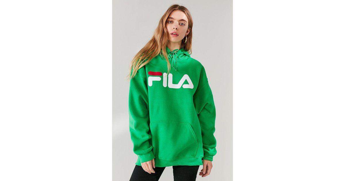 Lyst - Fila Fila + Uo Logo Hoodie Sweatshirt in Green b66ed57d7d6e
