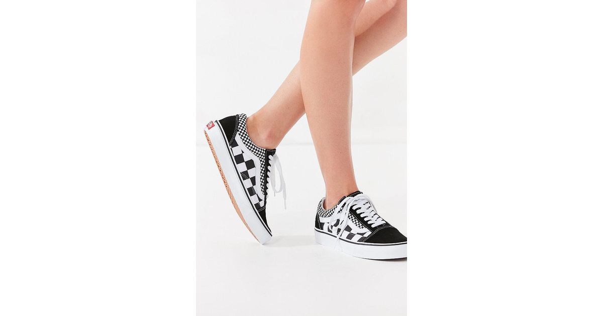 Lyst - Vans Vans Mix Checkerboard Old Skool Sneaker in Black 681282311