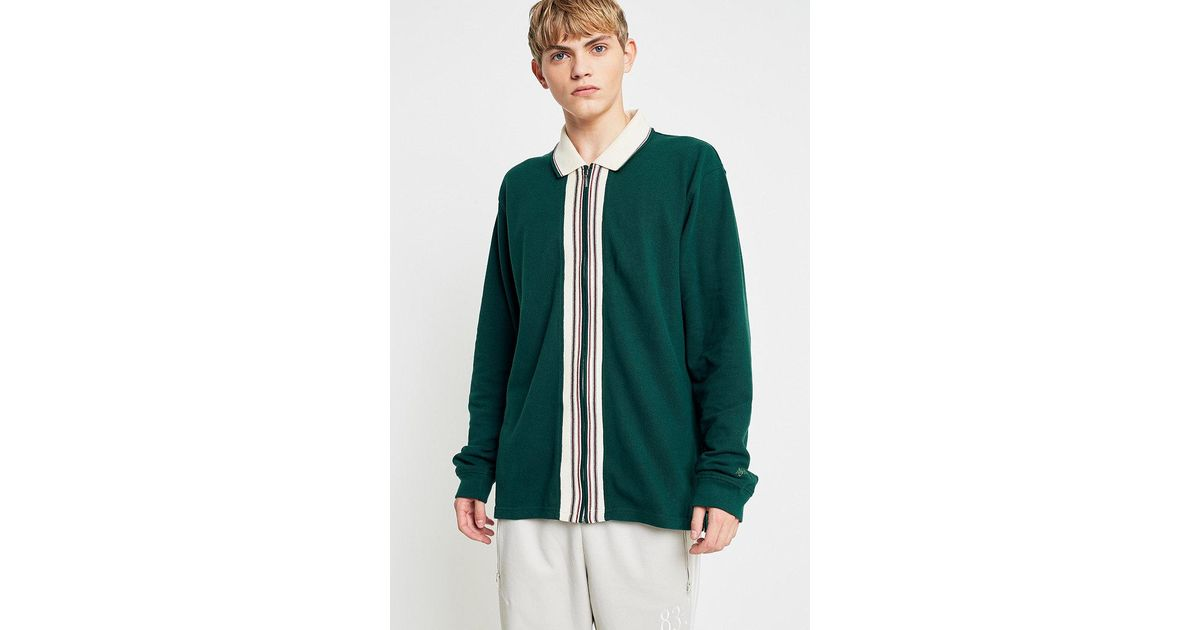 9f15537588a7a Stussy Forest Full-zip Long Sleeve Polo Shirt in Green for Men - Lyst