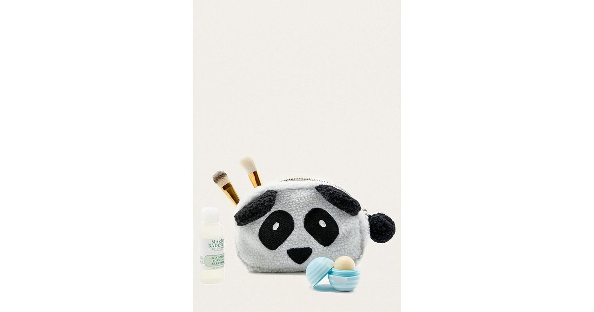 urban outfitters fleece panda make up bag in white lyst