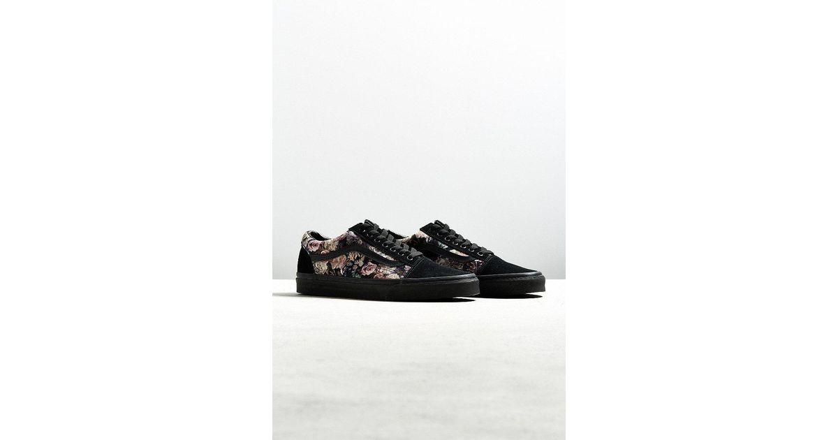 2231f1cfb918c4 Lyst - Vans Vans Old Skool Floral Velvet Sneaker in Black for Men