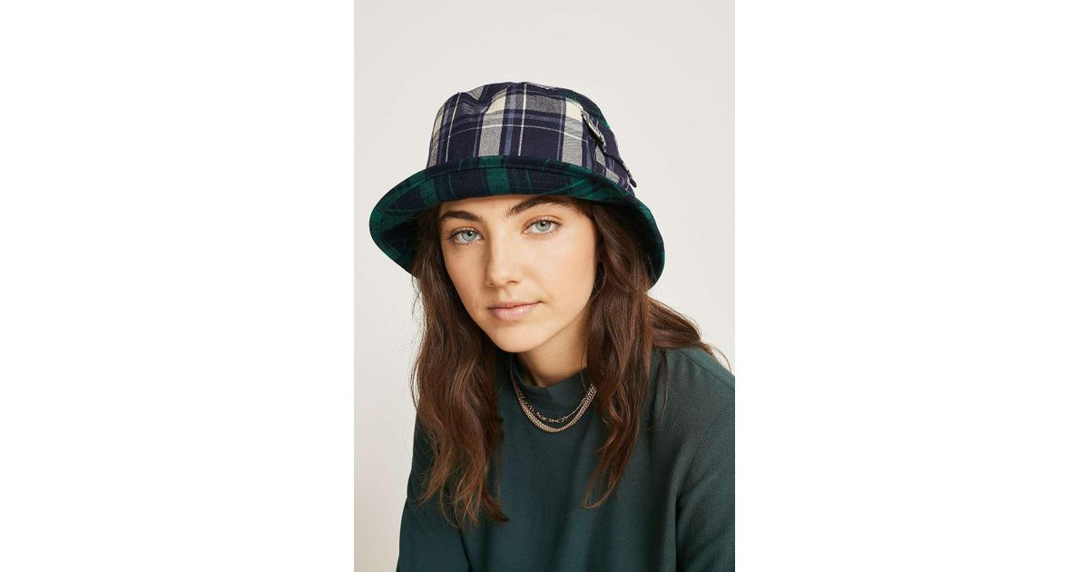 158d2e9c5dd644 Kangol Plaid On Plaid Bucket Hat - Womens M in Green - Lyst