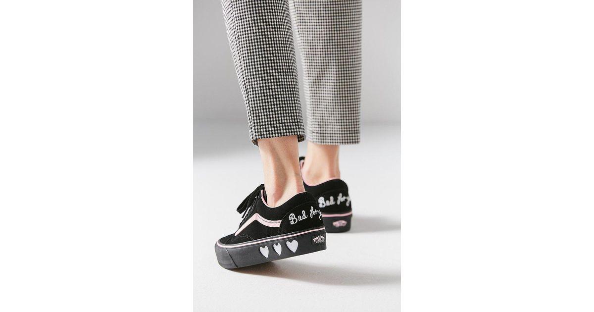 a11c71d246e Lyst - Vans Vans X Lazy Oaf Old Skool Platform Sneaker in Black