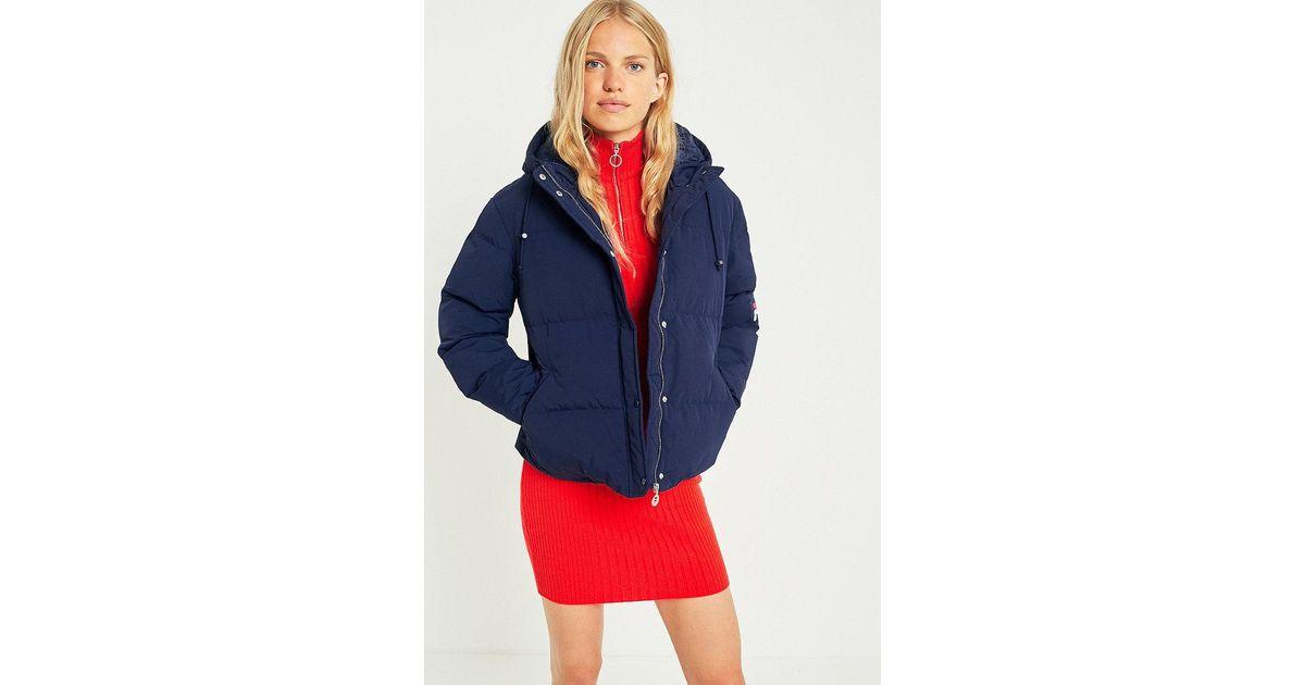 d50042641f76 Fila Navy Puffer Jacket in Blue - Lyst