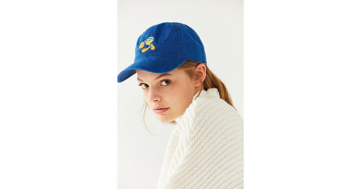 Lyst - Urban Outfitters Tweety Bird Baseball Hat in Blue 96dbc589feb7