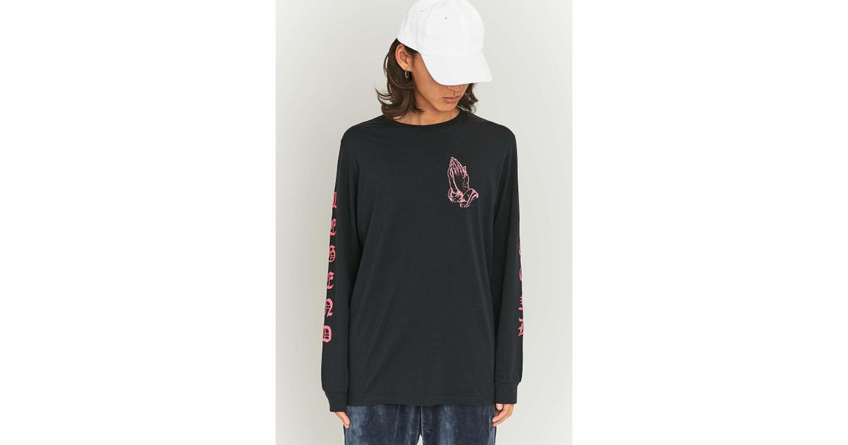 bab787869 Urban Outfitters Praying Hands Black And Pink Long Sleeve T-shirt - Mens L  in Black for Men - Lyst