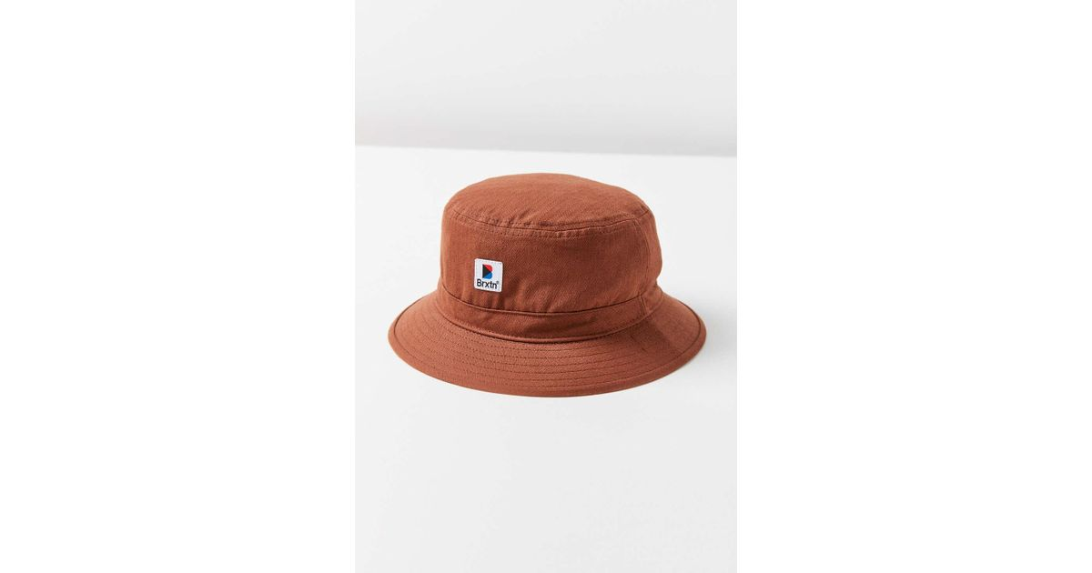 55d414dae6550f Brixton Stowell Bucket Hat in Brown - Lyst