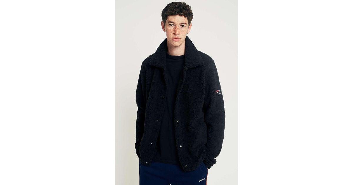 62c20130d96f Fila Palmer Sherpa Coach Jacket - Mens S in Black for Men - Lyst