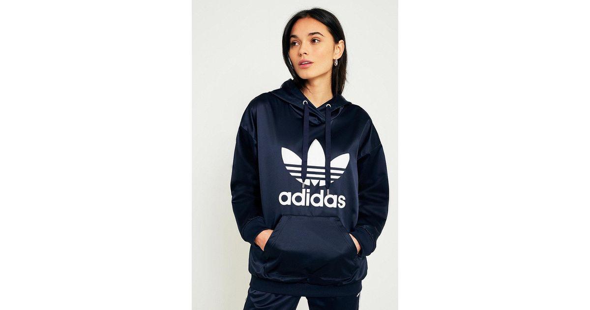 vendita 88a5c ec375 donne adidas originali originali adidas trifoglio raso cappuccio 22ba10