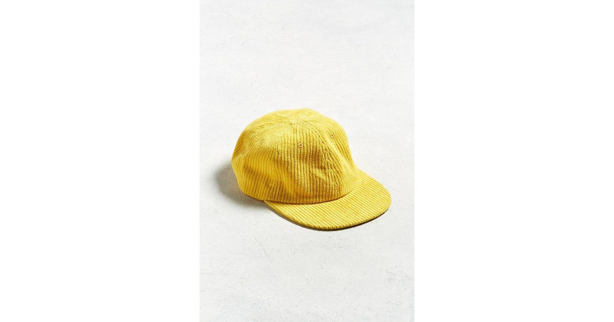 Lyst - Urban Outfitters Uo Corduroy Baseball Hat in Yellow for Men c84a757177a
