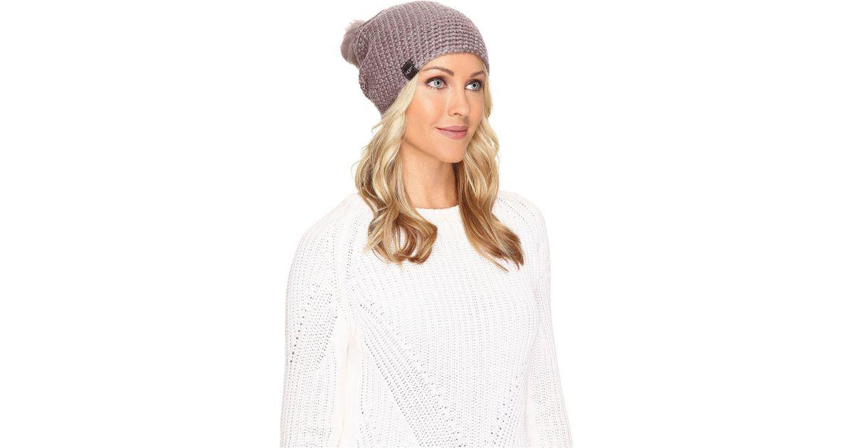 fc80af4724574 Lyst - UGG Crochet Pom Beanie With Lurex sequins
