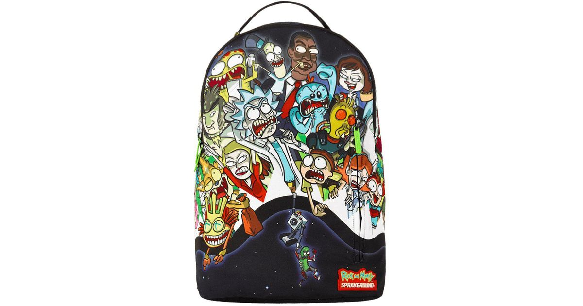 6c2cd32bd575 Sprayground Rick And Morty Portal Party Shark Backpack - Lyst