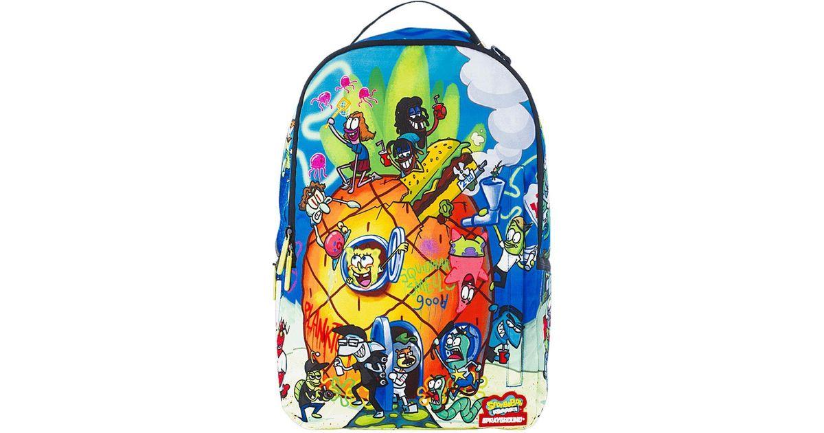 6ee18b21828875 Sprayground Spongebob Pineapple Party Backpack in Blue - Lyst