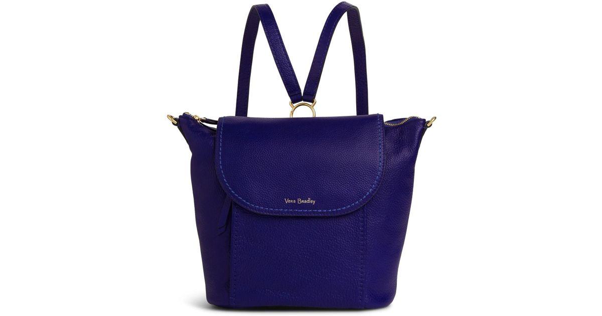 7f4cbf8eb606 Lyst - Vera Bradley Mallory Backpack in Blue
