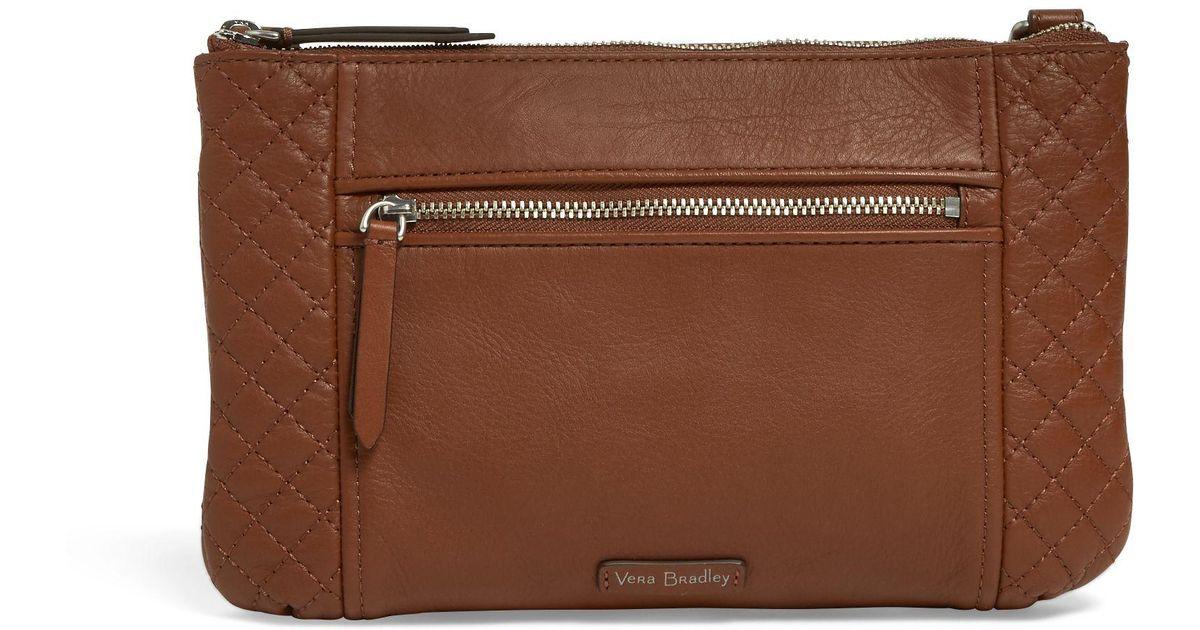 851e06d00 Vera Bradley Carryall Small Crossbody Bag in Brown - Lyst