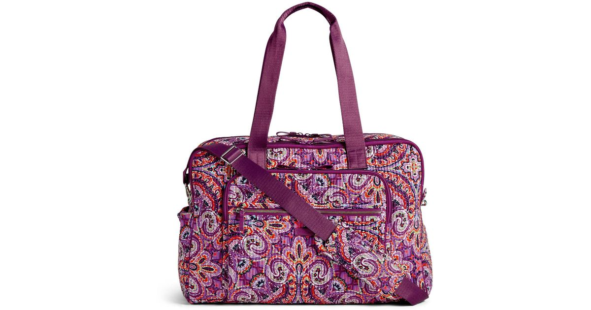 Lyst - Vera Bradley Iconic Weekender Travel Bag 9d5baf7dc60ea
