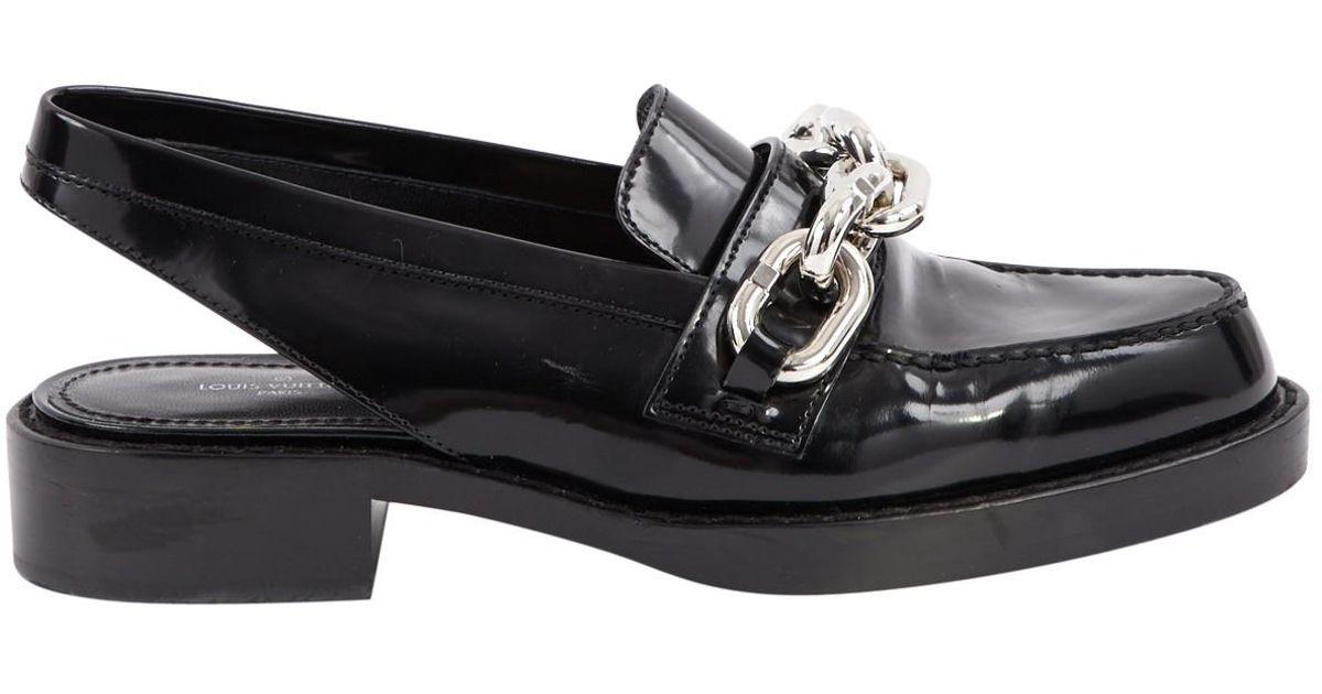 48e9df52af5c Lyst - Louis Vuitton Leather Flats in Black