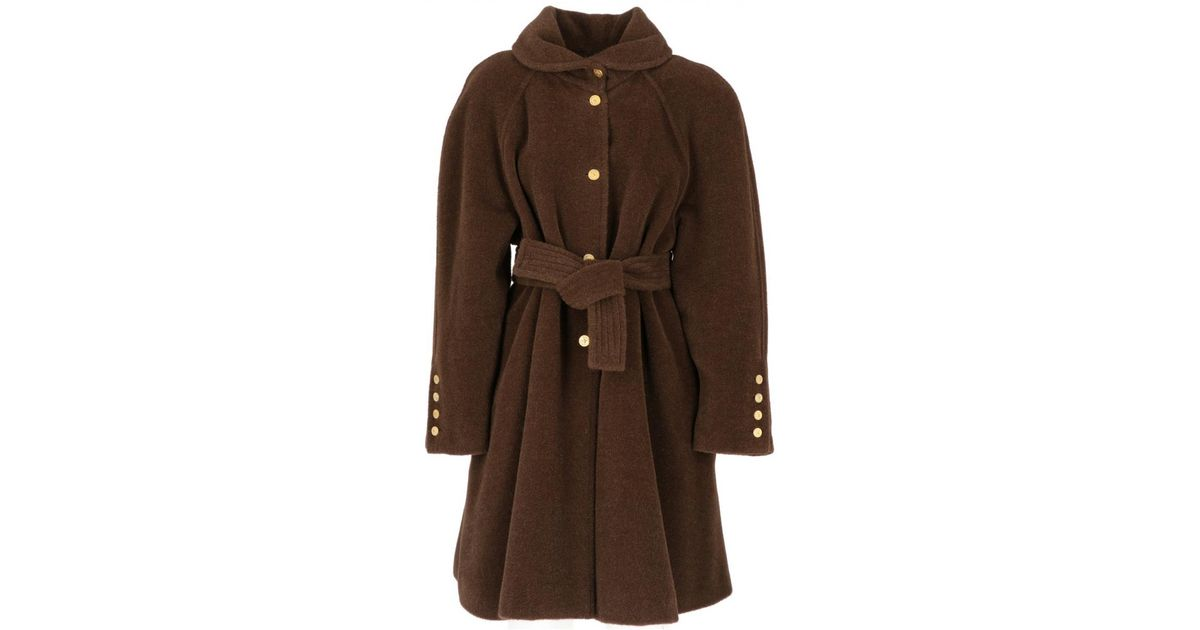 1eaf0cf2af4 Lyst - Sonia Rykiel Vintage Brown Wool Coat in Brown