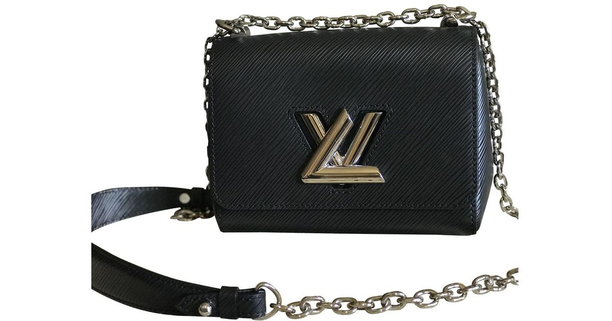 Lyst - Louis Vuitton Pre-owned Twist Black Leather Handbags in Black 25dbe807a1170