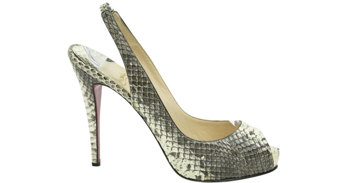 35f403c241f7 Lyst - Christian Louboutin Pre-owned Python Heels in Natural