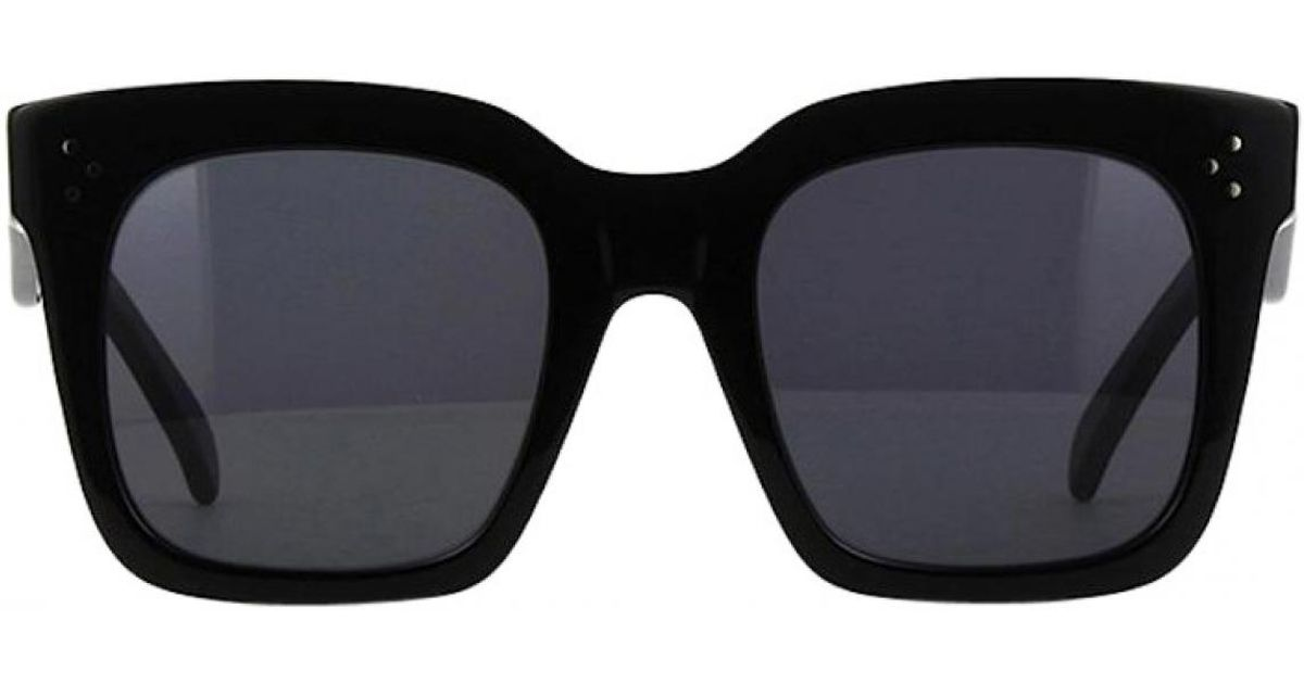 89ac8c83438 Lyst - Céline Pre-owned Oversized Sunglasses in Black
