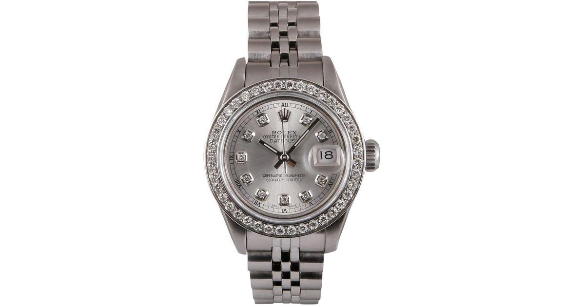 Rolex Metallic Lady Datejust 26mm Watch Lyst
