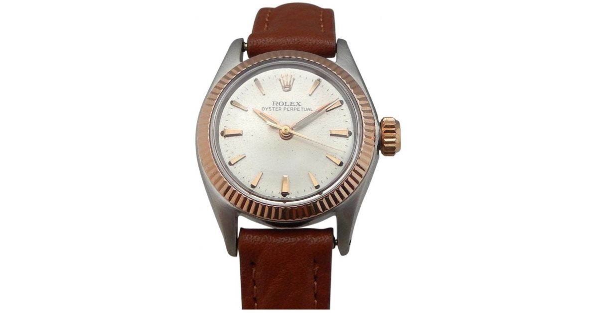 05f455ce84f7 Lyst - Rolex Pre-owned Vintage Lady Oyster Perpetual 26mm Other Steel  Watches in Metallic