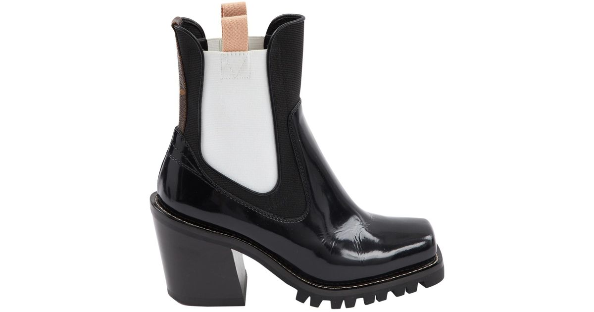 5084333a9b0a Lyst - Louis Vuitton Limitless Patent Leather Ankle Boots in Black