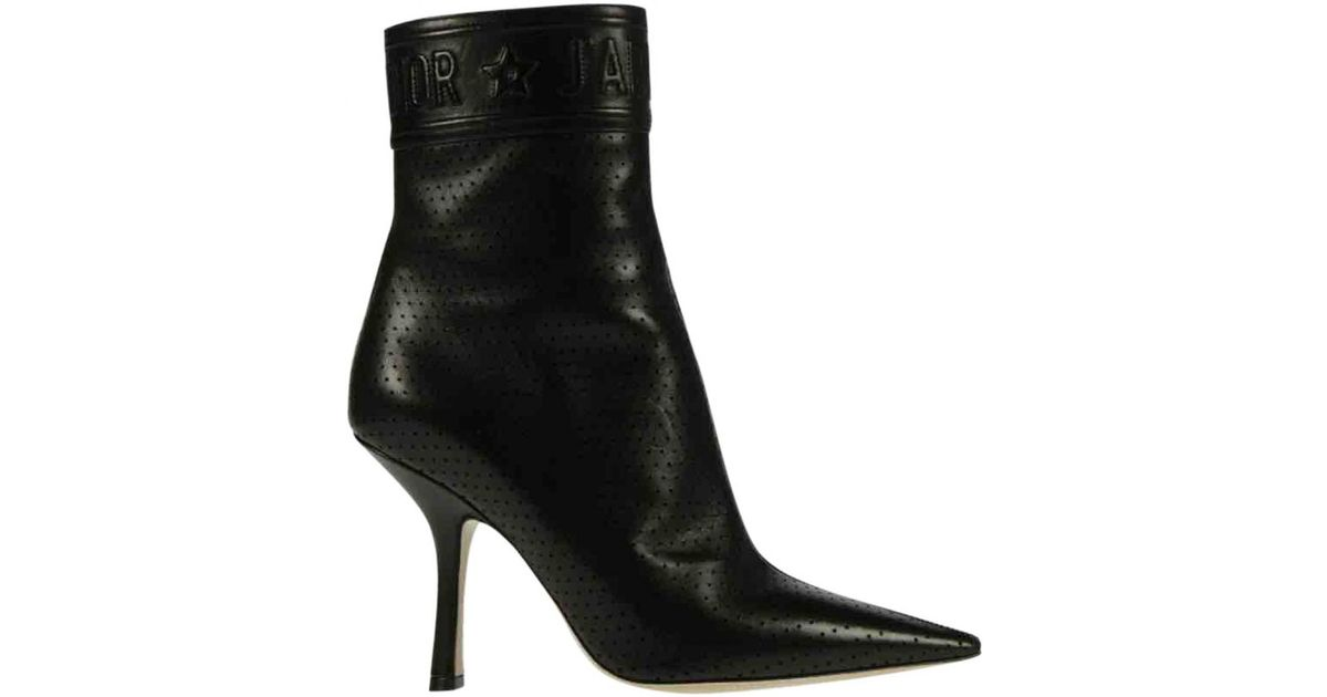 5e0461052 Lyst - Dior Pre-owned Black Leather Boots in Black - Save 49%