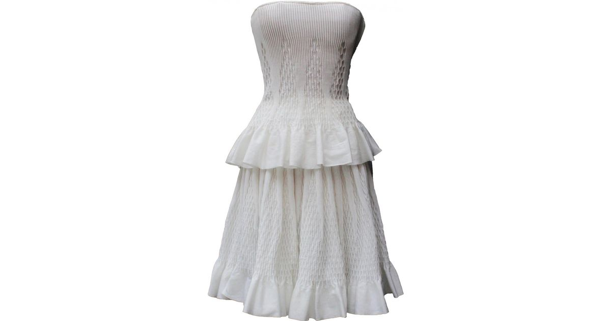 2279aea61cb Lyst - Alaïa Dress in White