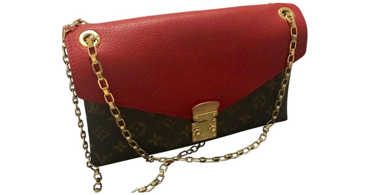 265eb5f52d94 Lyst - Louis Vuitton Pallas Cloth Crossbody Bag in Red