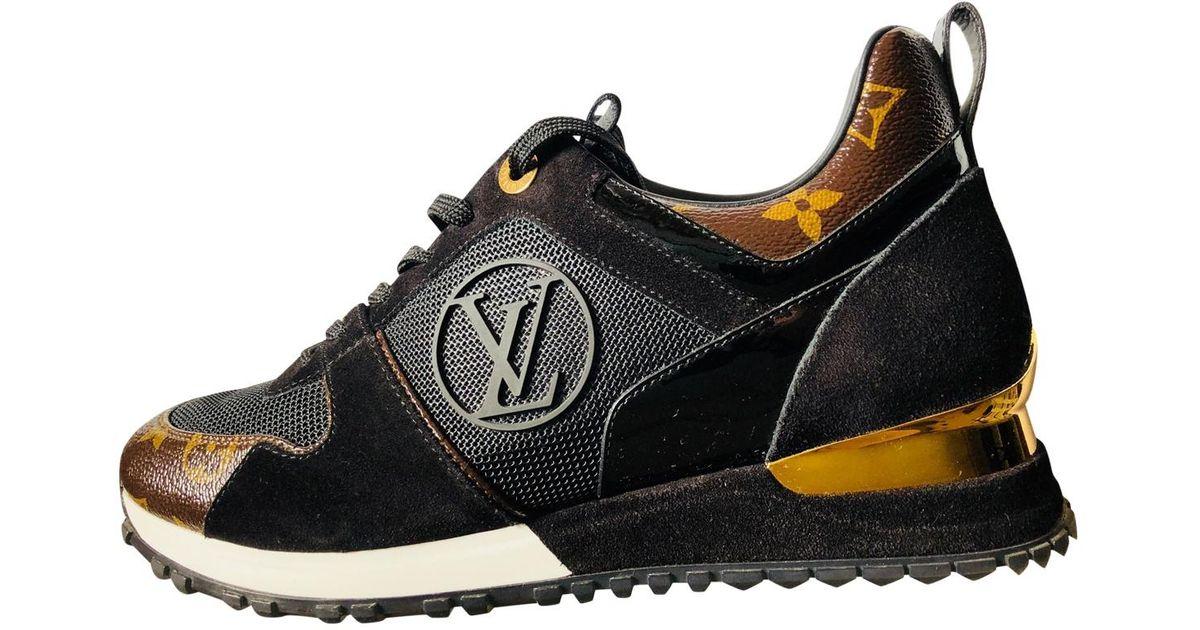 Louis Vuitton Run Away Cloth Trainers in Black - Lyst 0787cdf2a827