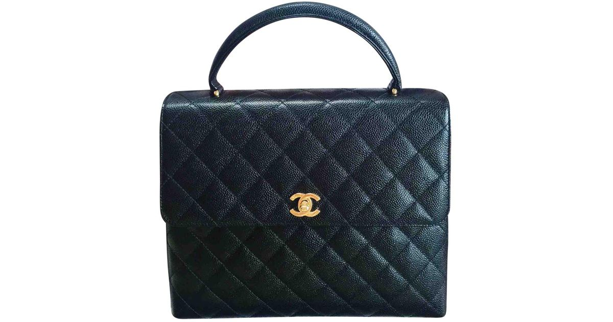 cd827d17d7f76b Lyst - Chanel Pre-owned Leather Handbag in Black