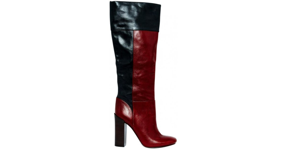 cac024204 Lyst - Tory Burch Leather Boots in Red