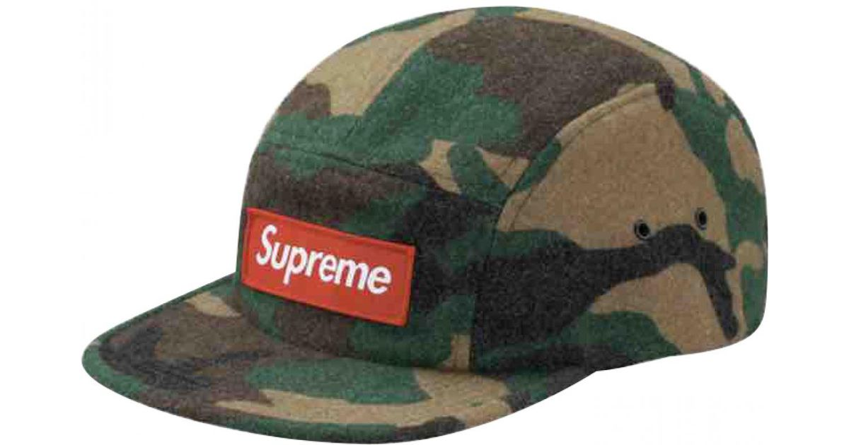 Lyst - Supreme Wool Hat in Green for Men 7a55c62dfa4