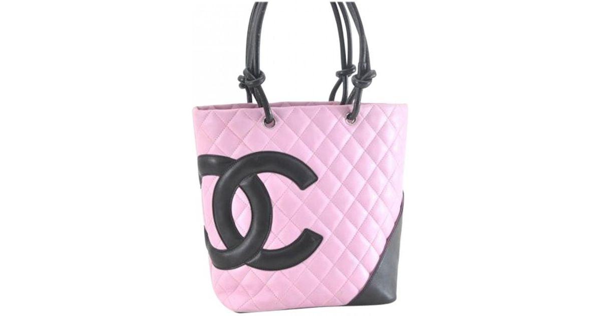 232e7db5e2f Lyst - Sac à main Cambon en cuir Chanel en coloris Rose