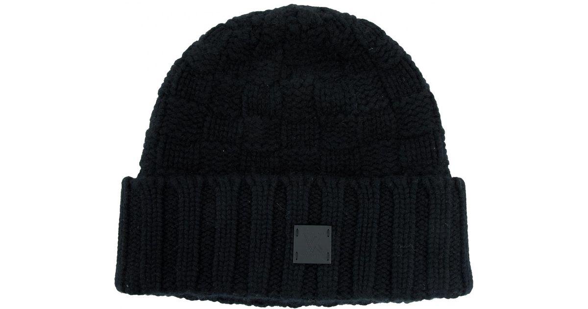 Lyst - Louis Vuitton Cashmere Hat in Black for Men ccc6712d281