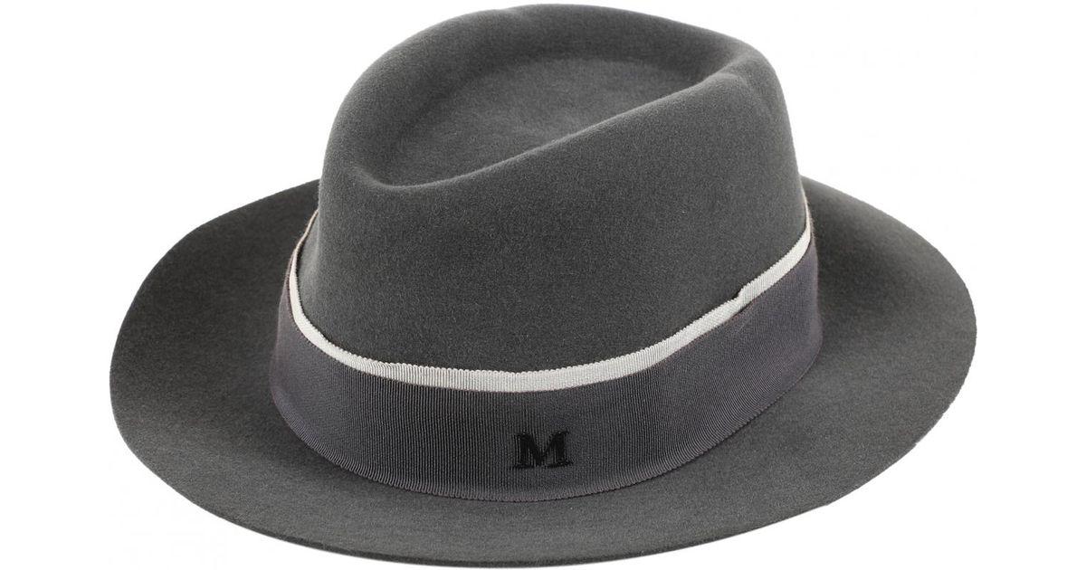 cfec79d233afd Maison Michel Hat in Gray - Lyst