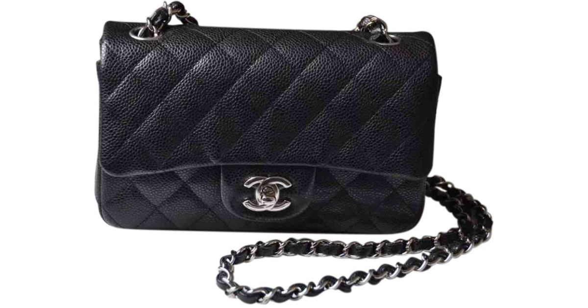 015755db82255 Chanel Pre-owned Timeless Leather Crossbody Bag in Black - Lyst