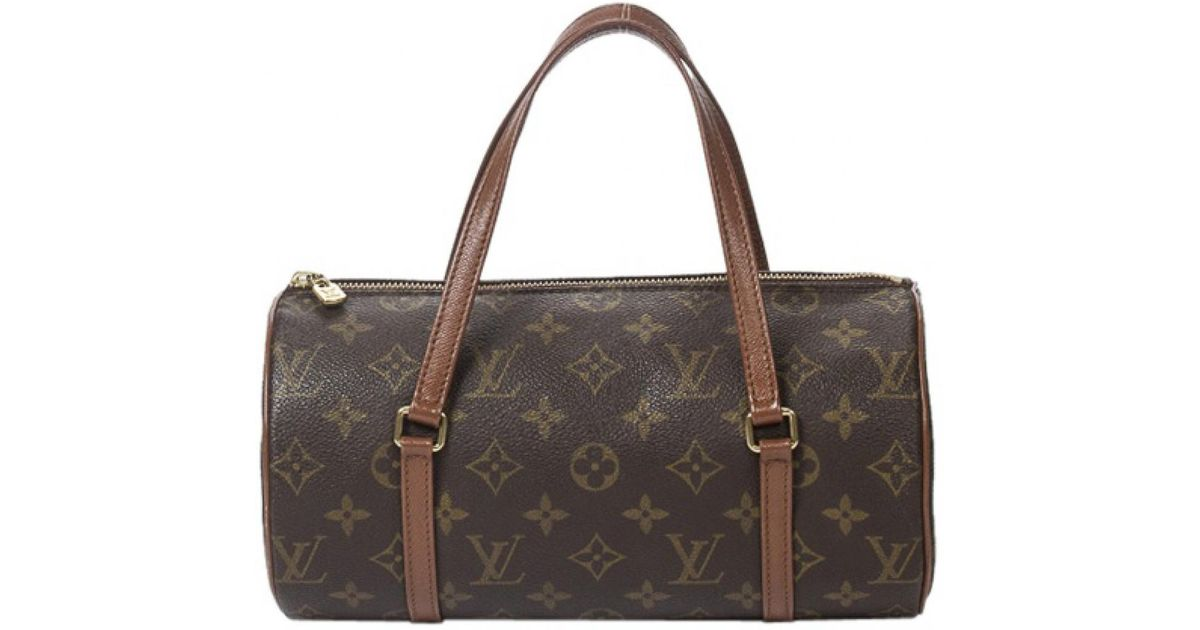 4391ed8322a Lyst - Sac à main Papillon en toile Louis Vuitton en coloris Marron