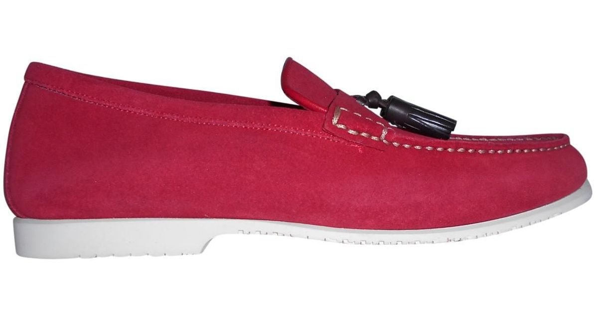 Lyst tom ford pre owned leather flats in red for men for Cannon motor company preowned