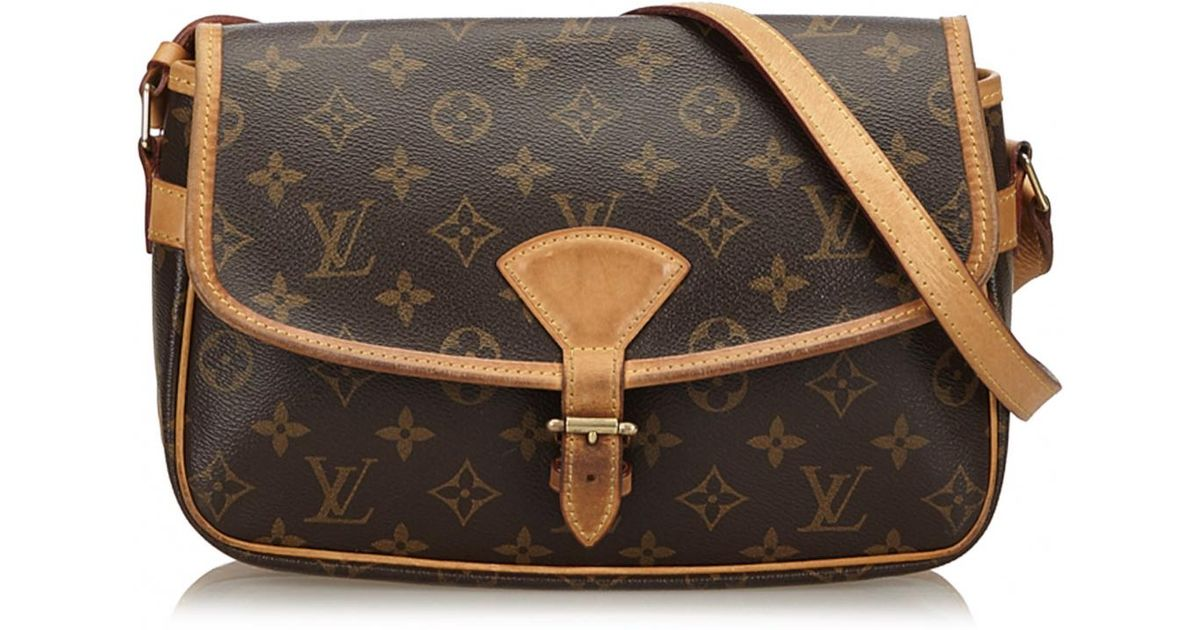 91f265f218f2 Louis Vuitton Pre-owned Sologne Cloth Crossbody Bag in Brown - Lyst