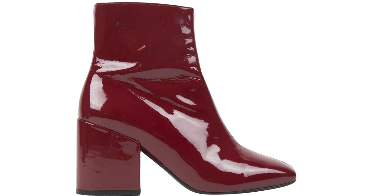 549ff28738 The Kooples Pre-owned Patent Leather Ankle Boots in Red - Lyst