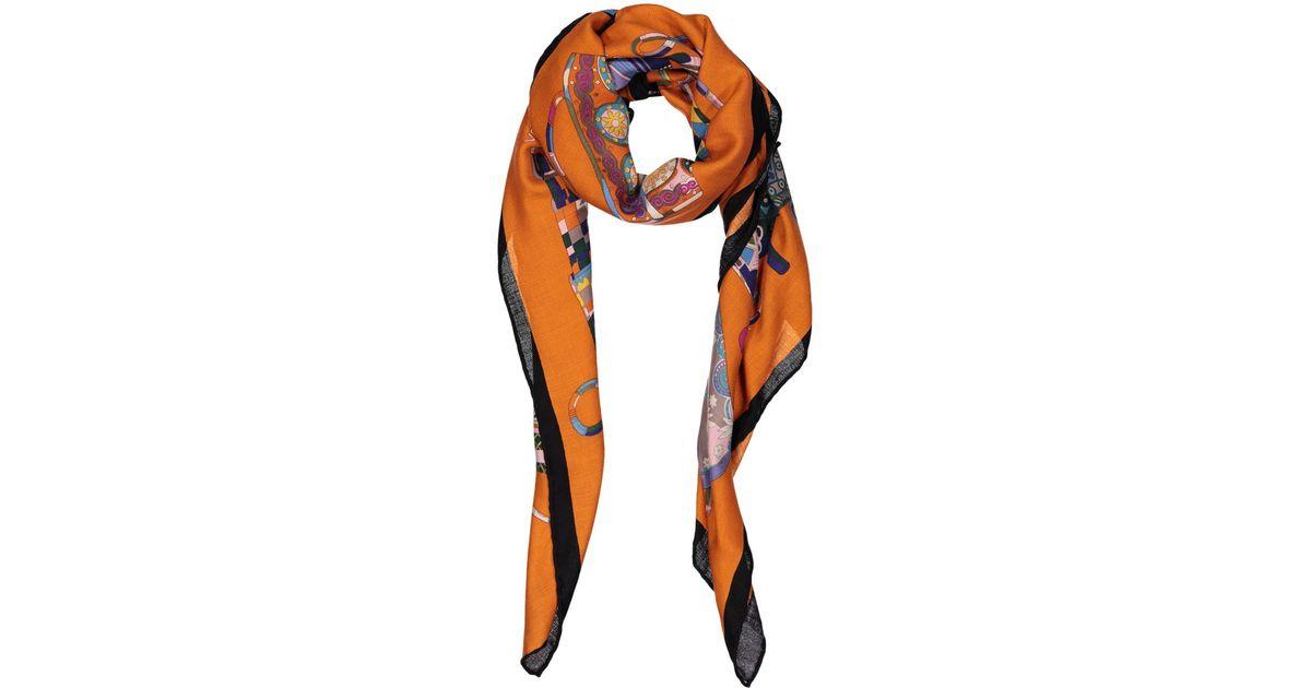 b7eb8fb68fbb Lyst - Hermès Cashmere Scarf in Orange
